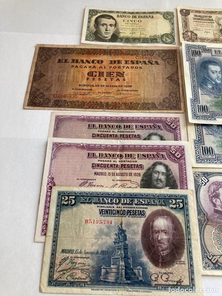 Billetes españoles: Lote variado de billetes españoles BC. - Foto 2 - 250165220