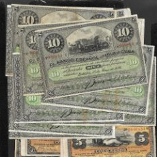 Billetes españoles: CUBA 40 BILLETES 25X5 PESOS+15X10 PESOS 1896 MBC/EBC. Lote 249169150