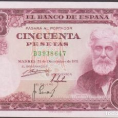 Billetes españoles: BILLETES ESPAÑOLES - ESTADO ESPAÑOL - 50 PESETAS 1951 - SERIE B - (SC). Lote 251481155