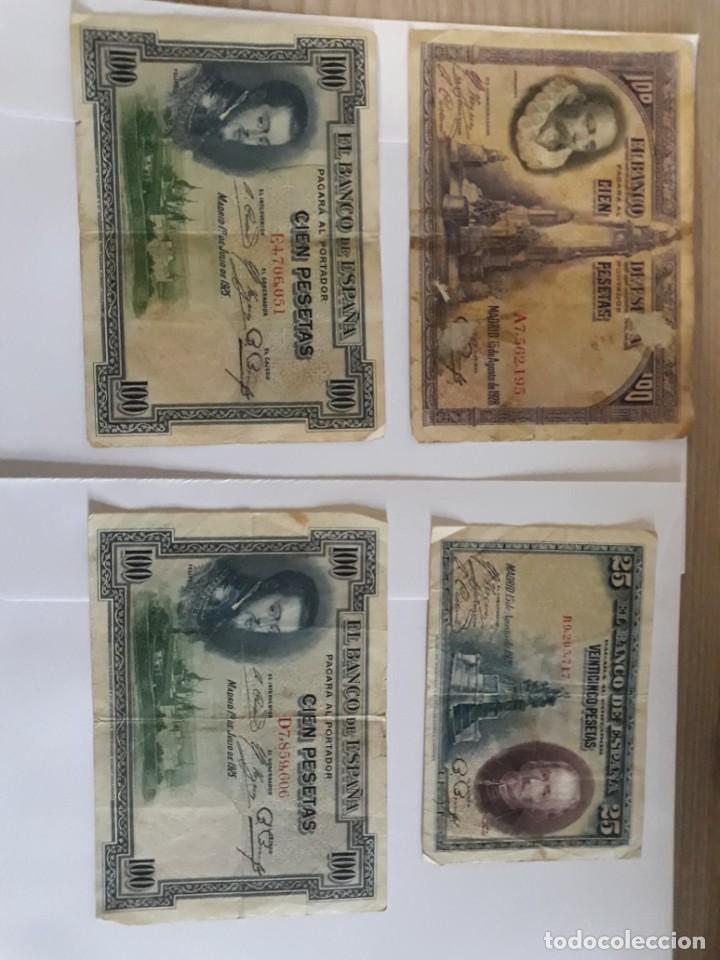 2 BILLETES DE 100 PESETAS DE 1925, OTRO DE 1928 Y UNO DE 25 PESETAS DE 1928 (Numismática - Notafilia - Billetes Españoles)