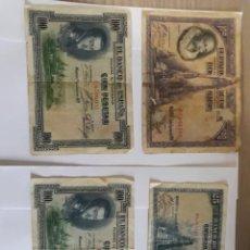 Billetes españoles: 2 BILLETES DE 100 PESETAS DE 1925, OTRO DE 1928 Y UNO DE 25 PESETAS DE 1928. Lote 252096120