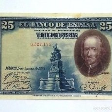 Billets espagnols: 25 PESETAS 1928 SIN SERIE,CON APRESTO,ESCASO. Lote 252172330