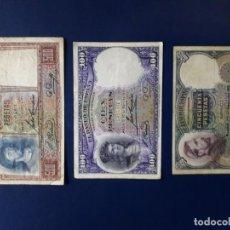 Billets espagnols: 50, 100 Y 500 PESETAS 1931. REPUBLICA ESPAÑOLA. BILLETES ESPAÑA. Lote 252542430