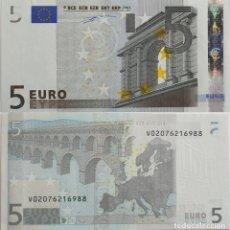 Billets espagnols: BILLETE 5 EUROS 2002 ESPAÑA (V) MODELO ANTIGUO FIRMA TRINCHET SIN CIRCULAR S/C. Lote 252696535
