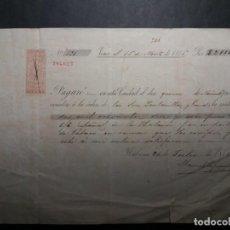 Billetes españoles: PAGARÉ DE CUBA 1875. Lote 253358435