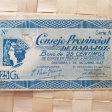 Billets espagnols: PAPEL MONEDA CONSEJO PROVINCIAL BADAJOZ. SOLO PARA COLECCIONISTAS.. Lote 253862250