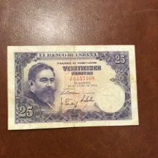 Billetes españoles: BILLETE DE ESPAÑA DE 1954 DE 25 PESETAS. Lote 253991205