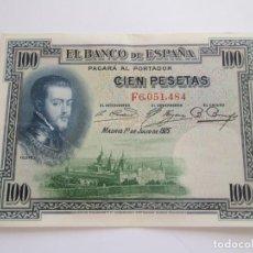 Banconote spagnole: BILLETE * 100 PESETAS 1 DE JULIO DE 1925. Lote 254103210