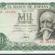Billetes españoles: 1000 MIL PESETAS MADRID 17 SETIEMBRE DE 1971 ORIGINAL. Lote 254203485