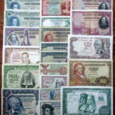 Billetes españoles: 20 BILLETES DE ALFONSO XIII, 2ª REPUBLICA Y DEL ESTADO ESPAÑOL. LOTE 1632. Lote 254477655
