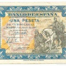 Billetes españoles: BILLETE DE 1 PESETA, DE 1º DE JUNIO DE 1940. MADRID, SIN LETRA DE SERIE. LOTE 1633. Lote 254484640