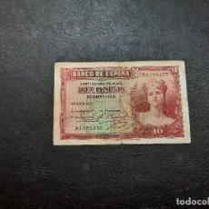 Banconote spagnole: BILLETE DE 10 PESETAS DE LA SEGUNDA REPUBLICA DEL AÑO 1935.ORIGINAL%. Lote 232603315