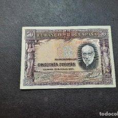 Billetes españoles: BILLETE DE 50 PESETAS DE RAMON Y CAJAL DEL AÑO 1935.EN BUEN ESTADO!!. Lote 254575475