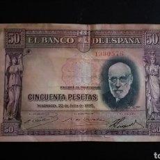 Billetes españoles: BILLETE DE 50 PESETAS ESPAÑA 1935 SANTIAGO RAMÓN Y CAJAL. Lote 254830090