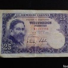 Billetes españoles: BILLETE DE 25 PESETAS ESPAÑA 1954. Lote 254830995