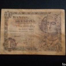 Billetes españoles: BILLETE DE 1 PESETA ESPAÑA AÑO 1948 LA DAMA DE ELCHE. Lote 254832285