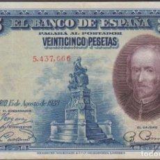 Billetes españoles: BILLETES ESPAÑOLES - ALFONSO XIII - 25 PESETAS 1928 - SIN SERIE (MBC). Lote 254836495