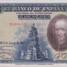 Billetes españoles: BILLETES ESPAÑOLES - ALFONSO XIII - 25 PESETAS 1928 - SERIE E (SC). Lote 254836720