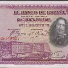 Billetes españoles: BILLETES ESPAÑOLES - ALFONSO XIII- 50 PESETAS 1928 - SERIE E (SC-). Lote 254837250