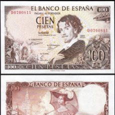 Billetes españoles: SPAIN 100 PESETAS 1965 P 150 GUSTAVO ADOLFO BÉCQUER UNC. Lote 255481640