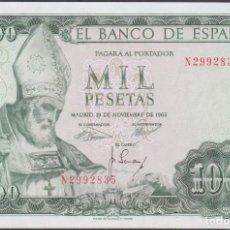 Billetes españoles: BILLETES ESPAÑOLES - ESTADO ESPAÑOL - 1000 PESETAS 1965 - SERIE N - (SC). Lote 256112455
