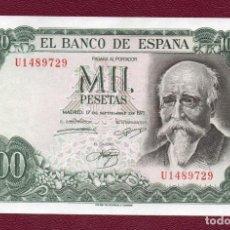 Billetes españoles: ESPAÑA: 1000 PESETAS 1971.( J ECHEGARAY )SC.UNC.PK.154.. Lote 257353940