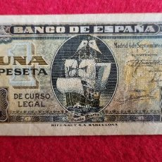 Banconote spagnole: BILLETE 1 PESETA 1940 MBC SERIE G ORIGINAL T545. Lote 257459285
