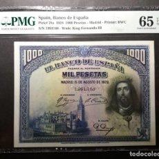 Billetes españoles: PMG BILLETE DE MIL PESETAS 1928 SAN FERNÁNDO PMG 65 EPQ SIN CIRCULAR CERTIFICADO. Lote 215426716