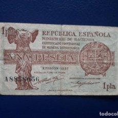 Billets espagnols: 1 PESETA 1937. BILLETE ESPAÑA. GUERRA CIVIL. Lote 257857365