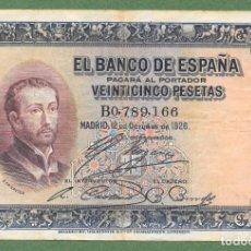 Banconote spagnole: BILLETE VENTICINCO 25 PESETAS 1926 ¡¡ LIQUIDACION COLECCION!!!!. Lote 257929060