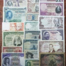 Banconote spagnole: 20 BILLETES DE ALFONSO XIII, 2ª REPUBLICA, ESTADO ESPAÑOL Y JUAN CARLOS I. LOTE 1642. Lote 259208500