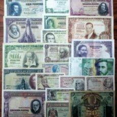 Banconote spagnole: 20 BILLETES DE ALFONSO XIII, 2ª REPUBLICA, ESTADO ESPAÑOL Y JUAN CARLOS I. LOTE 1644. Lote 259228260