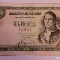 Billetes españoles: BILLETE DE ESPAÑA 1949. 1000 PTS. DON RAMÓN DE SANTILLANA. SIN SERIE. EXCELENTE.. Lote 259743750