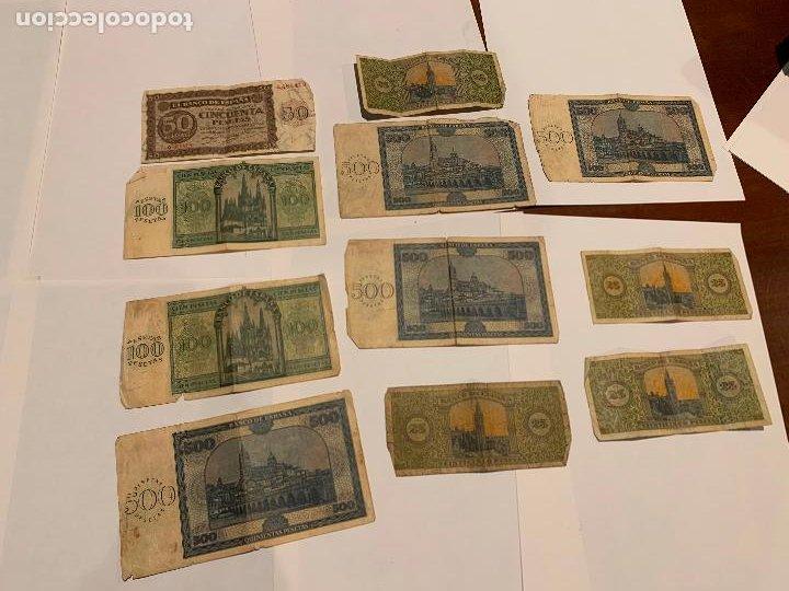 IMPORTANTE LOTE DE BILLETES 1938 DE BURGOS 25,50,100,500 PESETAS 1936 (Numismática - Notafilia - Billetes Españoles)