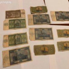 Banconote spagnole: IMPORTANTE LOTE DE BILLETES 1938 DE BURGOS 25,50,100,500 PESETAS 1936. Lote 259919295