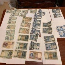 Banconote spagnole: GRAN LOTE ANTIGUOS BILLETES AÑOS 40 APROX ALGUNOS CORRELATIVOS DE 500,1000 PESETAS. Lote 259921965