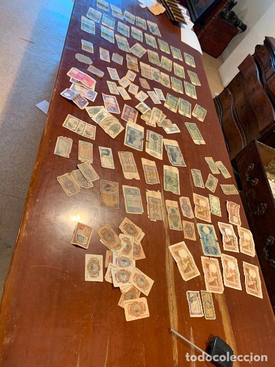 Billetes españoles: Gran lote de billetes antiguos Burgos 500,50,100 pesetas 1938-1936 - Foto 2 - 260077715
