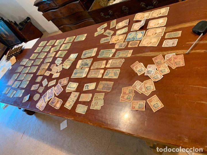 Billetes españoles: Gran lote de billetes antiguos Burgos 500,50,100 pesetas 1938-1936 - Foto 3 - 260077715