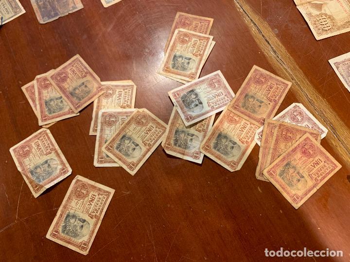Billetes españoles: Gran lote de billetes antiguos Burgos 500,50,100 pesetas 1938-1936 - Foto 4 - 260077715
