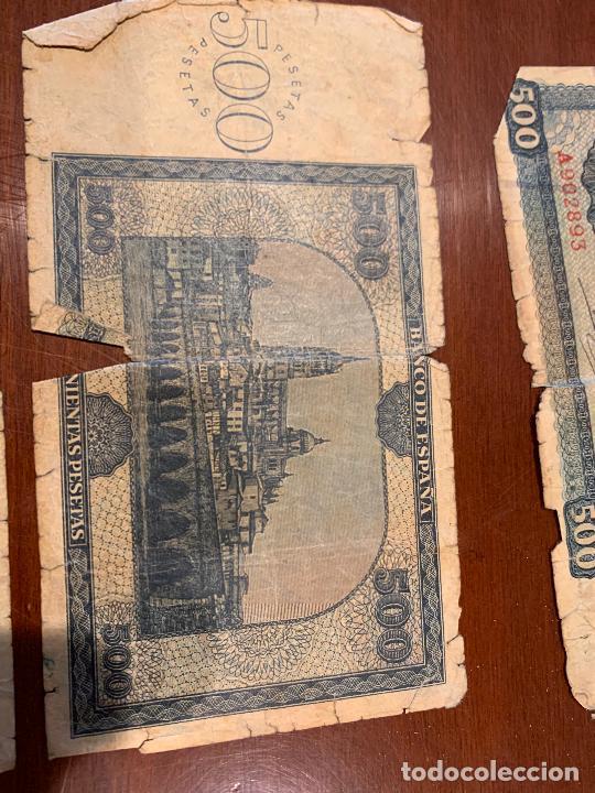 Billetes españoles: Gran lote de billetes antiguos Burgos 500,50,100 pesetas 1938-1936 - Foto 9 - 260077715