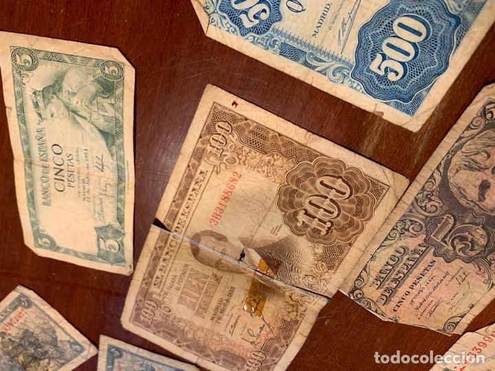 Billetes españoles: Gran lote de billetes antiguos Burgos 500,50,100 pesetas 1938-1936 - Foto 14 - 260077715