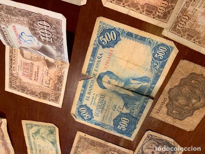 Billetes españoles: Gran lote de billetes antiguos Burgos 500,50,100 pesetas 1938-1936 - Foto 15 - 260077715