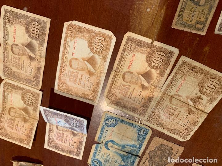 Billetes españoles: Gran lote de billetes antiguos Burgos 500,50,100 pesetas 1938-1936 - Foto 16 - 260077715
