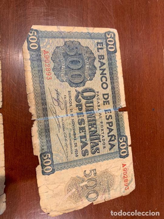 Billetes españoles: Gran lote de billetes antiguos Burgos 500,50,100 pesetas 1938-1936 - Foto 18 - 260077715