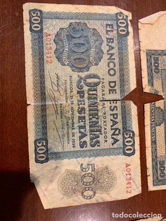 Billetes españoles: Gran lote de billetes antiguos Burgos 500,50,100 pesetas 1938-1936 - Foto 19 - 260077715