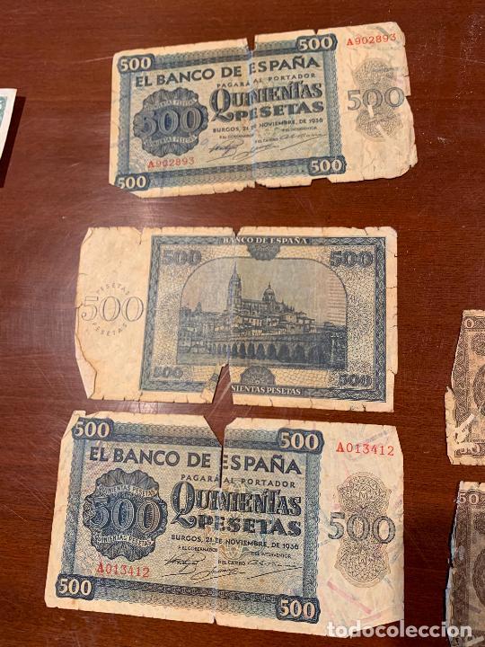 Billetes españoles: Gran lote de billetes antiguos Burgos 500,50,100 pesetas 1938-1936 - Foto 20 - 260077715