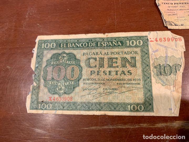 Billetes españoles: Gran lote de billetes antiguos Burgos 500,50,100 pesetas 1938-1936 - Foto 21 - 260077715