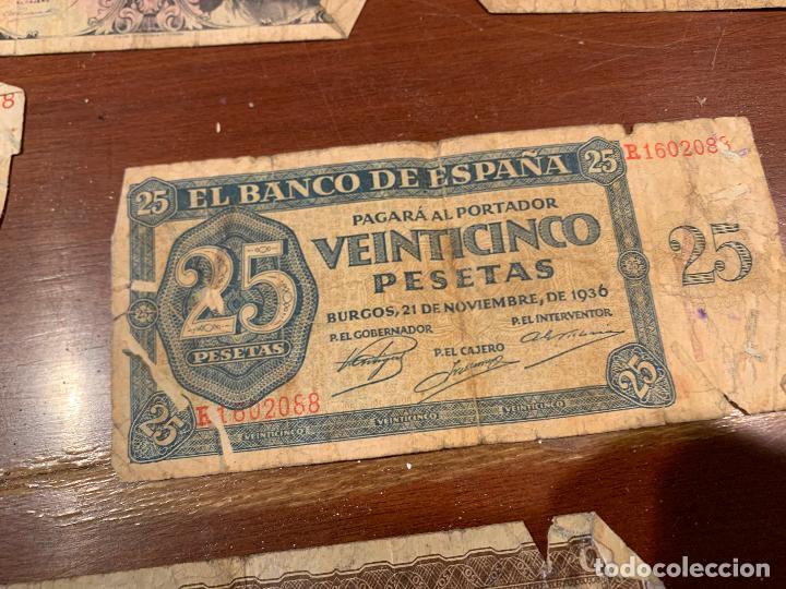 Billetes españoles: Gran lote de billetes antiguos Burgos 500,50,100 pesetas 1938-1936 - Foto 22 - 260077715