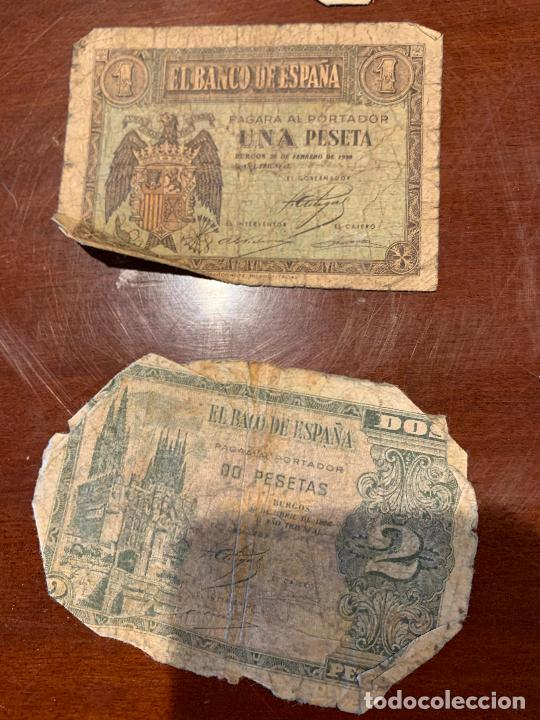 Billetes españoles: Gran lote de billetes antiguos Burgos 500,50,100 pesetas 1938-1936 - Foto 25 - 260077715