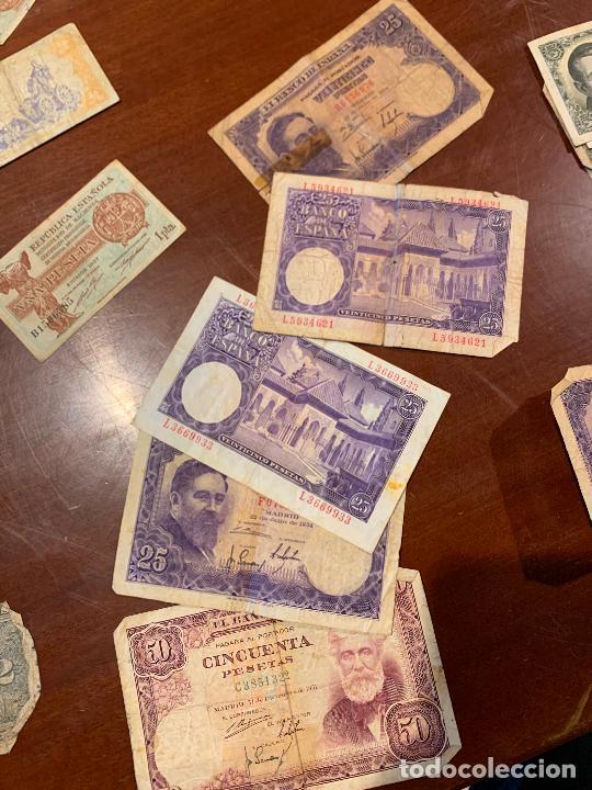 Billetes españoles: Gran lote de billetes antiguos Burgos 500,50,100 pesetas 1938-1936 - Foto 26 - 260077715